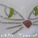 Rhinestone Hot Fix Iron On Transfer HALLOWEEN KITTY CAT