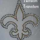 Rhinestone IronOn Transfer FOOTBALL FLEUR DE LIS SAINTS
