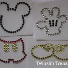 Rhinestone Hot Fix Iron On Transfer MICKEY MOUSE PARTS