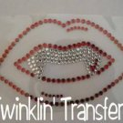 Rhinestone Transfer HotFix IronOn VAMPIRE TWILIGHT LIPS