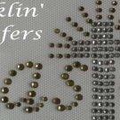Rhinestone Transfer Iron On CROSS CHRISTIAN EASTER