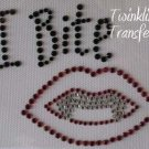 Rhinestone Transfer Iron On VAMPIRE TWILIGHT FANGS BITE