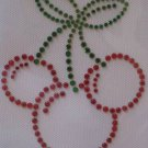 Rhinestone Transfer Iron On MICKEY CHERRIES CHERRY RED