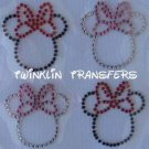 Rhinestone Iron On Transfer MINI MINNIE MOUSE ICONS