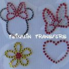 Rhinestone Iron On Transfer MINNIE MOUSE ICONS DISNEY