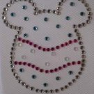 Rhinestone Iron On Transfer EASTER EGG MICKEY PINK