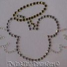 Rhinestone Iron On Transfer ANGEL MICKEY WINGS HALO