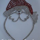 Rhinestone Hot Fix Iron On Transfer CHRISTMAS SANTA
