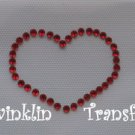 Rhinestone Transfer Hot Fix Iron On PEACE LOVE MICKEY
