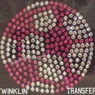 Rhinestone Transfer Iron On Hot Fix PINK SOCCER BALL