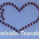 Rhinestone Iron On Transfer PEACE LOVE HEART HAPPY FACE