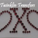 Rhinestone HotFix Iron On Transfer VALENTINE HEART XOXO