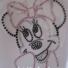 Rhinestone Hot Fix Iron On Transfer MINNIE MOUSE LARGE