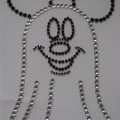 Rhinestone Hot Iron On Transfer HALLOWEEN MICKEY GHOST