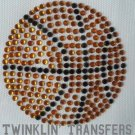 Rhinestone Transfer Hot Fix Iron On BASKETBALL SPORTS