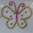 Rhinestone Transfer Iron On GROOVY BUTTERFLY TRIO
