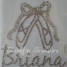 Rhinestone Transfer Iron On PERSONALIZED BALLET SHOES