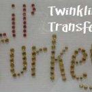 Rhinestone Transfer Iron On THANKSGIVING LIL TURKEY