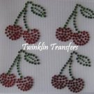 Rhinestone Hot Fix IronOn Transfer MINI CHERRIES CHERRY