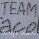 Rhinestone Transfer Iron On TWILIGHT TEAM JACOB BLACK