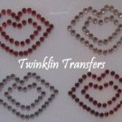 Rhinestone Hot Fix Iron On Transfer LIPS RED PINK KISS