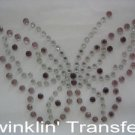 Rhinestone Transfer Hot Fix Iron On BUTTERFLY PURPLE