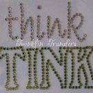 Rhinestone Transfer Iron On THINK TINK TINKERBELL