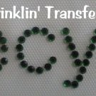 Rhinestone Transfer Hot Fix Iron On I RECYCLE GREEN
