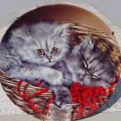 1993 Emily & Elliott Baskets of Love kitten plate MINT