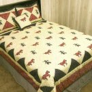 HAPPY TRAILS OVERSIZE KING QUILT SET NEW