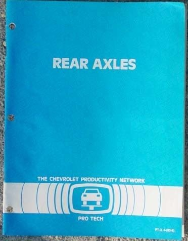 1983 GM Rear Axles Diagnosis and Service Booklet