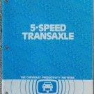1982 GM 5 Speed Transaxle Service Booklet