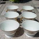 LOT OF 6 3532 PETITE ROSE HARMONY HOUSE CHINA CUPS EC