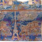 TOWER TAPESTRY TOTE HANDBAG PURSE ZIPPERED TOP SIDE NEW