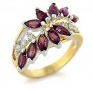 Beautiful New Two Tone Amethyst Fashion Ring