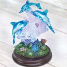 BEAUTIFUL LED LIGHTED DOLPHIN FIGURINE GREAT GIFT