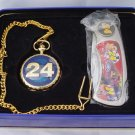 Jeff Gordon #24 Knife & Pocket Watch in Collectible Tin