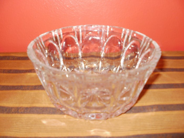 Cut Glass Round Candy Dish