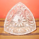Cut Glass Small Triangle Shaped Candy dish