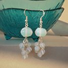 Moonstone Beaded Earrings Designer Handcrafted Natural Stone Jewelry Gemstone Earrings