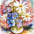 Bouquet Print Watercolor Painting Summer Flowers Home Decor