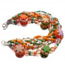 Multi Color Polymer clay Bracelet Bright Colors Handcrafted Beaded Jewelry