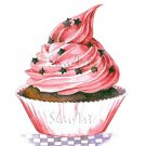 Still Life Cupcake Print Watercolor Painting Fine Art Food Home Decor