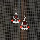 Semi Precious Earrings, Beaded Jewelry, Handcrafted Design, Natural Stone