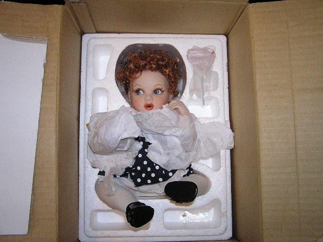 Franklin Mint Premier Doll Baby Lucy, I Love Lucy Celebrity Portrait Collectible