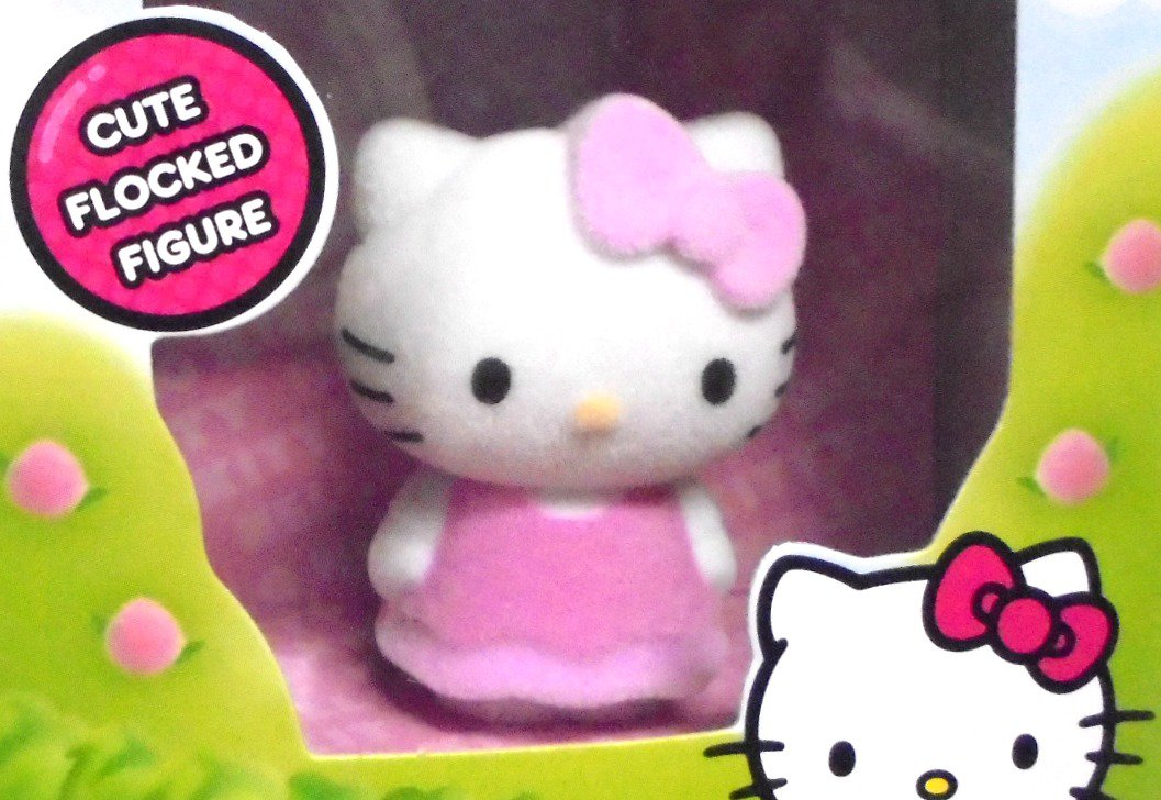 Hello Kitty Sanrio Toy Flocked Figure Fuzzy Plush Like Vanity Collectible