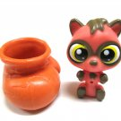 Littlest Pet Shop Fox Mini LPS Toy Collectible Figure & Hideaway Shoe