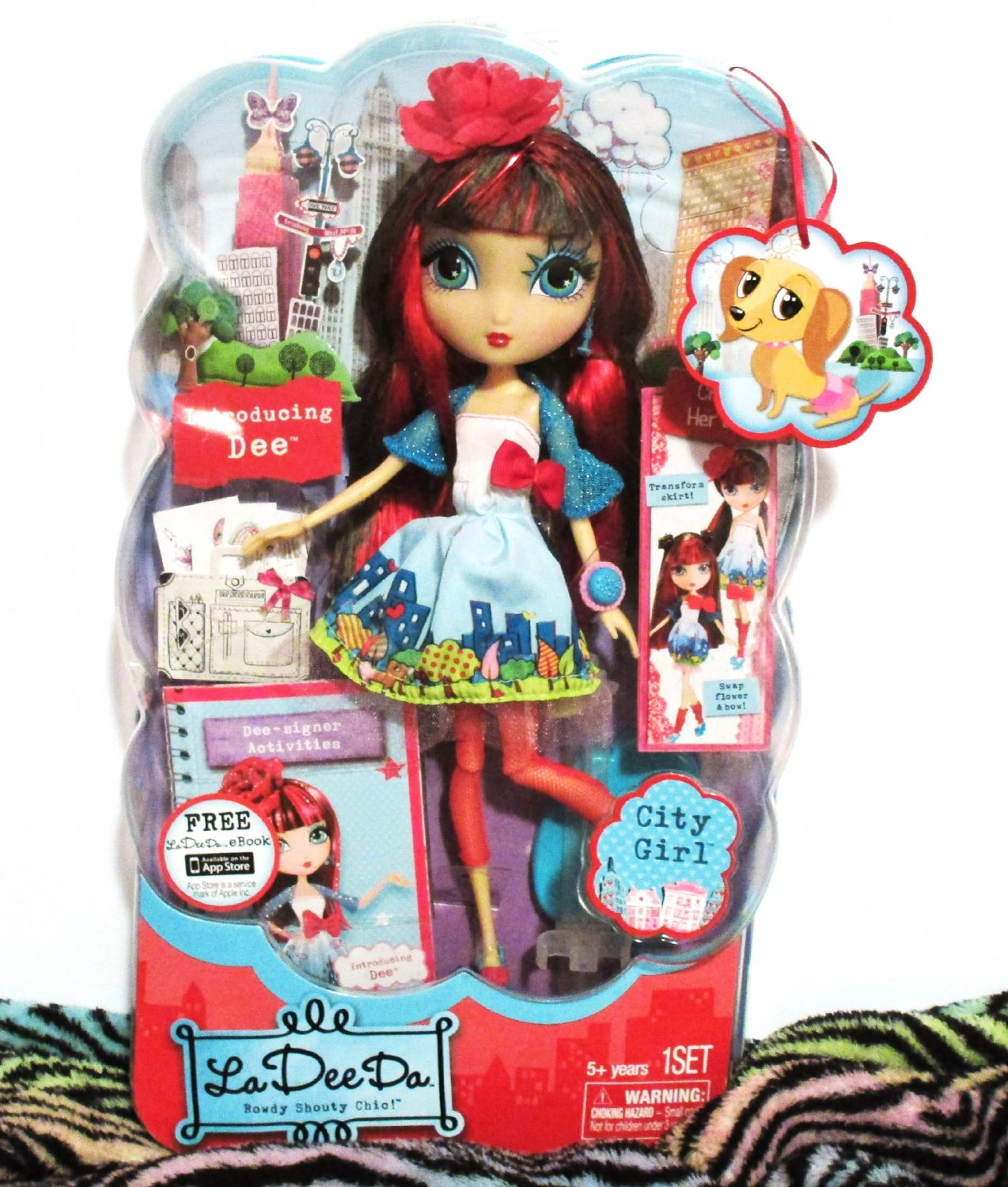 "La Dee Da City Girl Doll Rowdy Shouty Chic Collection 10"" Inch NIB, Her Outfit Design Changes"