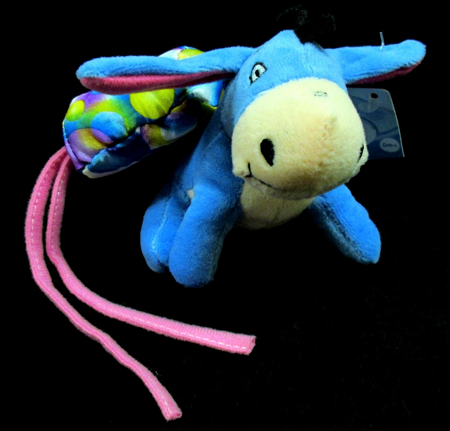 Disney Baby Pooh Bear Pals Eeyore Plush Toy Hanging Crib Rattle Cuddle Buddy