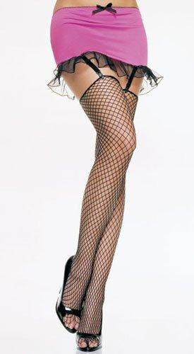 Black fishnet industrial net stockings o/s
